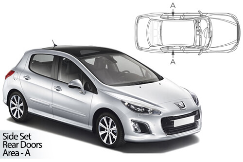 Car Shades Peugeot 308 5dr 08-13 Rear Door Set