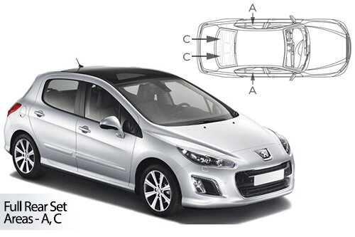 Car Shades Peugeot 308 5dr 08-13 Full Rear Set
