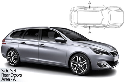 UV Car Shades - Peugeot 308 Estate 2013> Rear Door Set