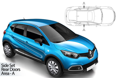 UV Car Shades - Renault Captur 5dr 13> Rear Door Set