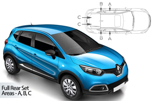 Car Shades Renault Captur	5 Door 13> Full Rear Set