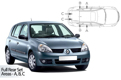 UV Privacy Car Shades (Set of 4) Renault Clio 5dr 1998-05