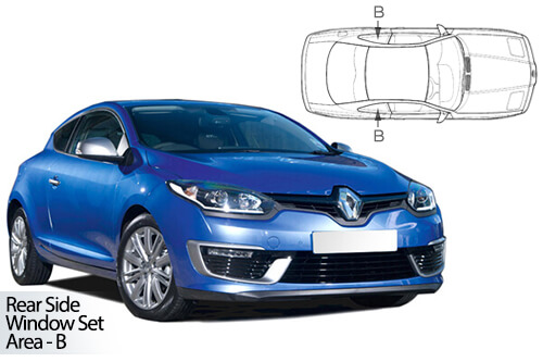UV Car Shades - Renault Megane 3dr 08-16 Rear Door Set