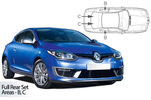 Car Shades Renault Megane 3 door 08-16 Full Rear Set