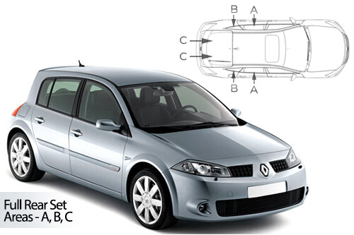 Car Shades Renault Megane 5 door 02-08 Full Rear Set