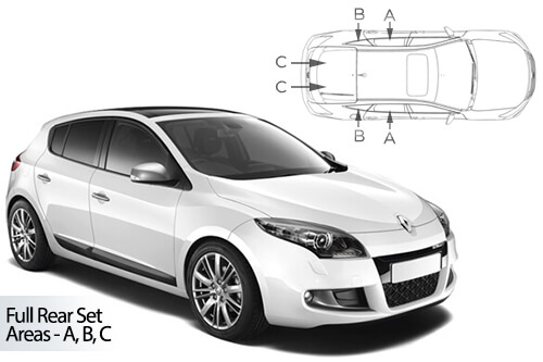 Car Shades Renault Megane 5 door 08-16 Full Rear Set