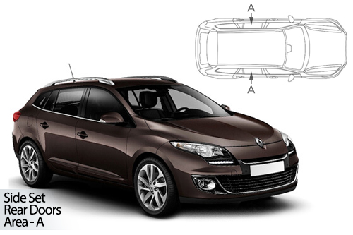 UV Privacy Car Shades - Renault Megane Est 08-16 Rear Door Set