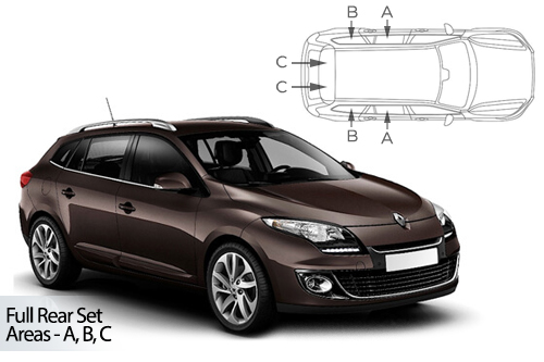 Car Shades Renault Megane Estate 08-16 Full Rear Set