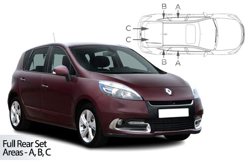 UV Privacy Car Shades (Set of 6) Renault Scenic 5dr 09-16
