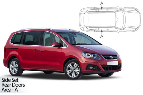 UV Car Shades - Seat Alhambra 5dr 2010> Rear Door Set