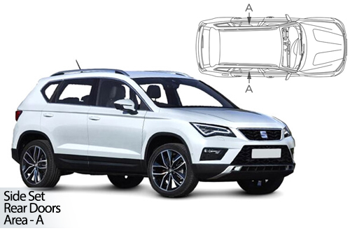 UV Car Shades - Seat Ateca 5dr 2016> Rear Door Set