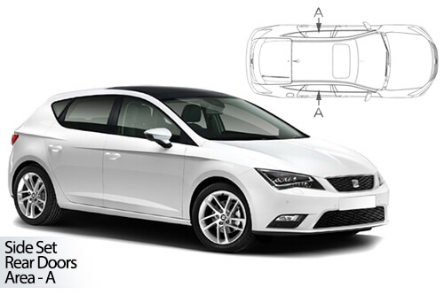 UV Privacy Car Shades - Seat Leon 5dr 12> Rear Door Set