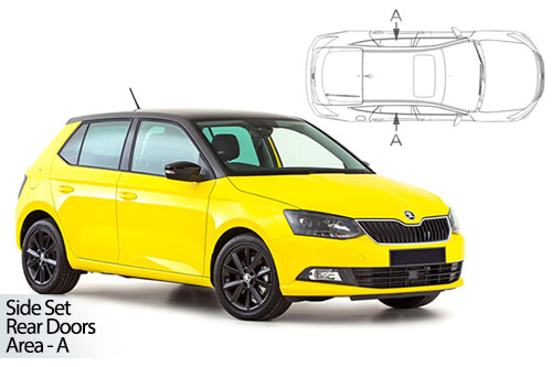 UV Car Shades - Skoda Fabia 5dr 2015> Rear Door Set