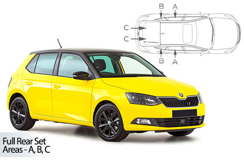 UV Car Shades (Set of 4) Skoda Fabia 5dr 2015>