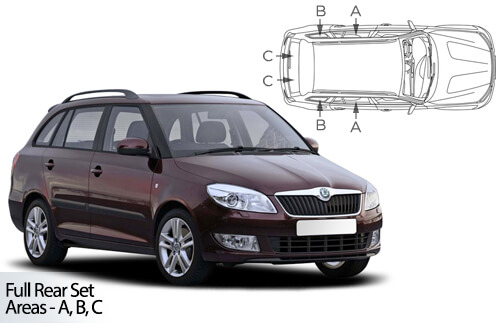 UV Privacy Car Shades (Set of 6) Skoda Fabia Estate 07-15