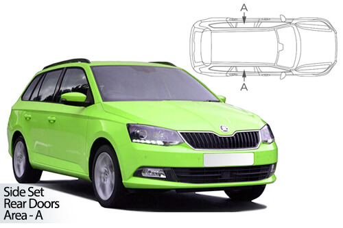 UV Car Shades - Skoda Fabia Estate 2015> Rear Door Set