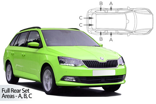 UV Privacy Car Shades Skoda Fabia Estate 2015>