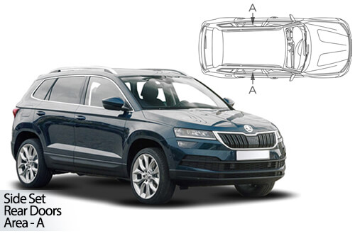 UV Car Shades - Skoda Karoq 2017> Rear Door Set