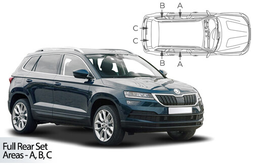 Car Shades Skoda Karoq 5 door	17> Full Rear Set