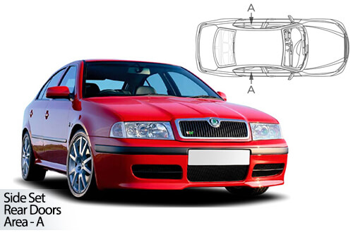 UV Car Shades - Skoda Octavia 5dr 97-04 Rear Door Set