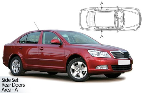 UV Car Shades - Skoda Octavia 5dr 04-13 Rear Door Set