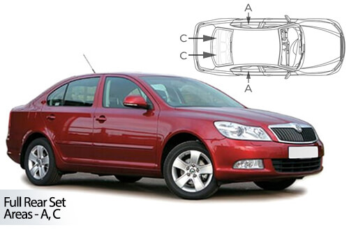 Car Shades Skoda Octavia 5 door 04-13 Full Rear Set