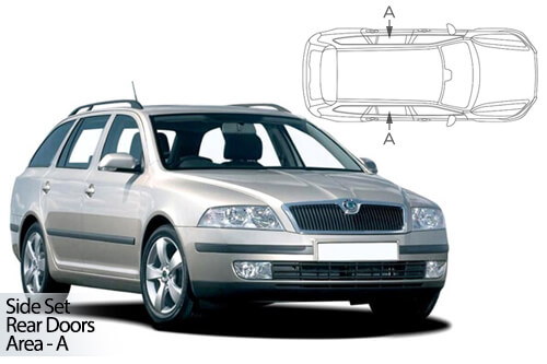 UV Privacy Car Shades - Skoda Octavia Est 04-13 - Rear Door Set