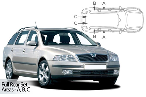 Car Shades Skoda Octavia Estate 04-13 Full Rear Set