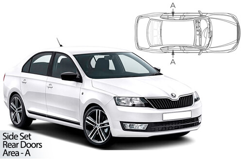 UV Car Shades - Skoda Rapid Liftback 12>19 Rear Door Set