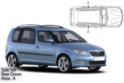UV Privacy Car Shades - Skoda Roomster 06-15 Rear Door Set