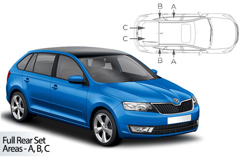 UV Privacy Car Shades (Set of 6) Skoda Rapid Spaceback 2012>