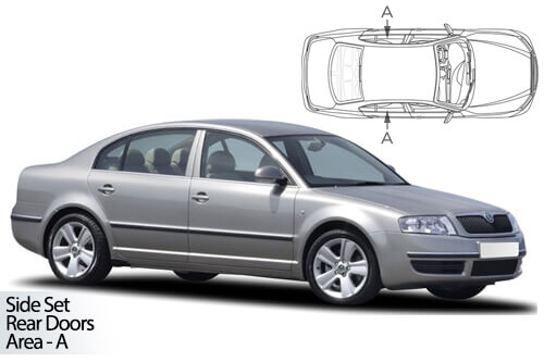 UV Car Shades - Skoda Superb 4dr 02-08 Rear Door Set