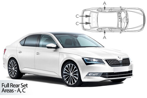 Car Shades Skoda Superb B8 5 door 15> Full Rear Set
