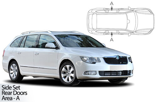 Car Shades Skoda Superb Estate 09-15 Rear Door Set