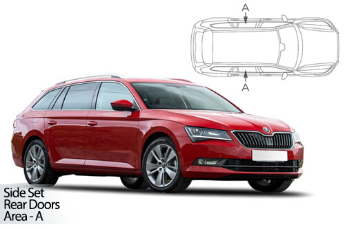 UV Privacy Car Shades - Skoda Superb Estate 2015> Rear Door Set