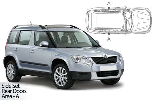 UV Car Shades - Skoda Yeti 09-17 Rear Door Set