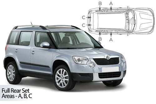 UV Car Shades - Skoda Yeti 09-17 Full Rear Set