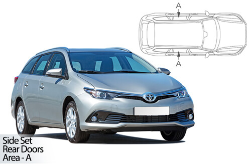 UV Car Shades - Toyota Auris Estate 12-18 Rear Door Set