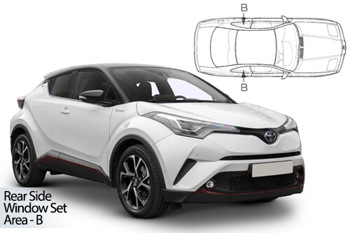Car Shades Toyota C-HR 5dr 2017> Rear Door Set