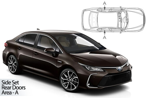 Car Shades Toyota Corolla 4dr 2018> Rear Door Set