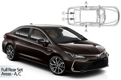 Car Shades Toyota Corolla 4dr 2018> Full Rear Set