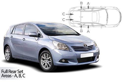UV Car Shades Toyota Verso 5dr (Set of 6) 2009>