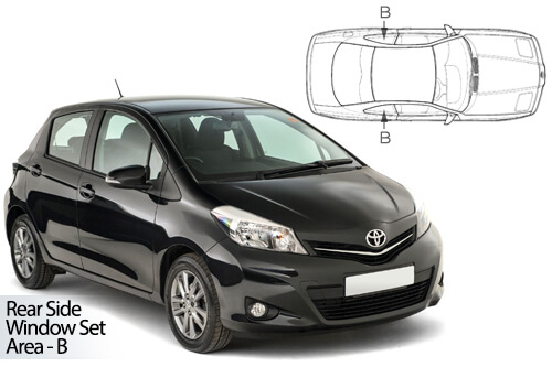 Car Shades Toyota Yaris 5dr 11-17 Rear Door Set