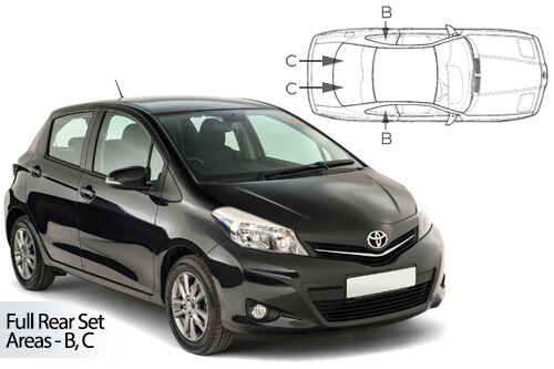 Car Shades Toyota Yaris (XP130)	5 Door 11-17 Full Rear Set