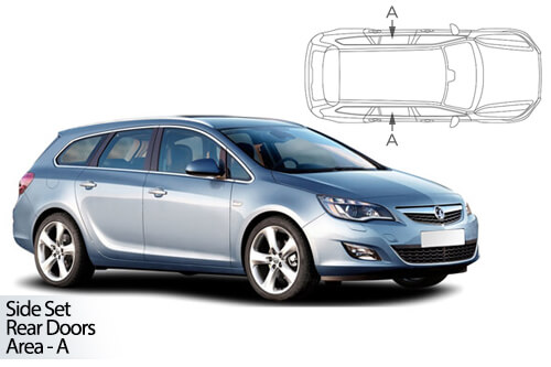 UV Privacy Car Shades - Vauxhall Astra Est 11-15 Rear Door Set