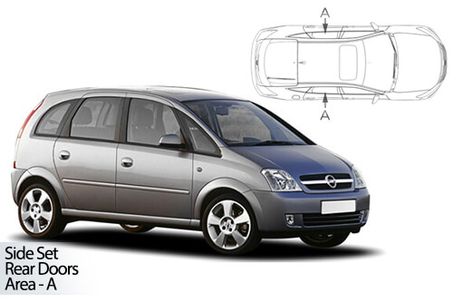 UV Car Shades - Vauxhall Meriva 03-10 Rear Door Set