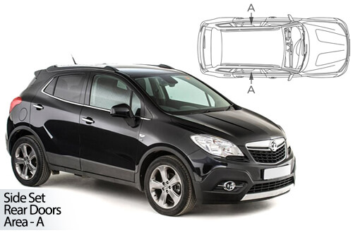 Car Shades Vauxhall Mokka & Mokka X 2012>20 - Rear Door Set