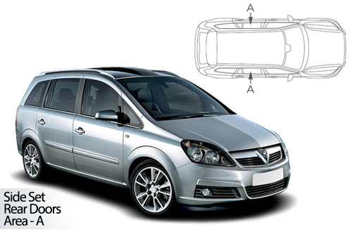 UV Car Shades - Vauxhall Zafira 05-14 Rear Door Set