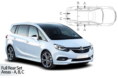 Car Shades Vauxhall Zafira Sports Tourer 5 Dr 12> Full Rear Set