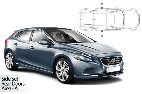 UV Privacy Car Shades - Volvo V40 5dr 2012> Rear Door Set
